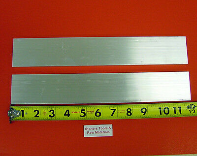 "2 Pieces 1/4"" X 2-1/2"" ALUMINUM 6061 T6511 FLAT BAR 12"" long New Mill Stock .25"""