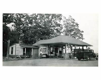 1941 Pure Oil Gas Station Photo Charlotte NC Gas Globe Tiolene ch2585