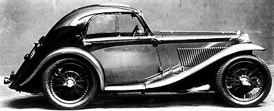 1934 MG Airline HW Allingham PA Chassis Factory Photo c4338-KJJZX3