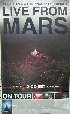 BEN HARPER 2001 live from mars BIG promo poster ~NEW & MINT~!!