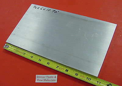 "1/2"" X 6"" ALUMINUM 6061 T6511 Solid FLAT BAR 10.70"" long PLATE MILL STOCK .50""x6"