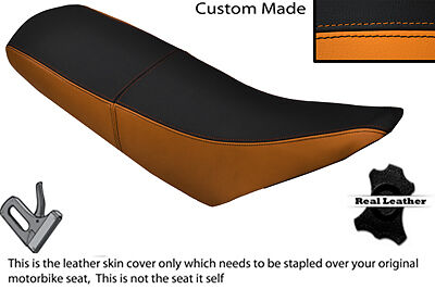 Orange & Black Custom Fits Pulse Adrenaline 125 Dual Leather Seat Cover