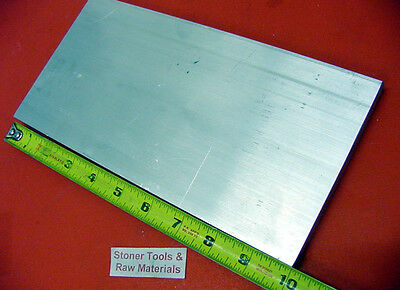 "1/2"" X 6"" ALUMINUM 6061 T6511 FLAT BAR 10"" long Solid Plate New Mill Stock .50"""