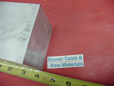 "2-1/2"" X 2-1/2"" ALUMINUM 6061 SQUARE BAR 4"" long Solid T6511 Flat Mill Stock 2.5"