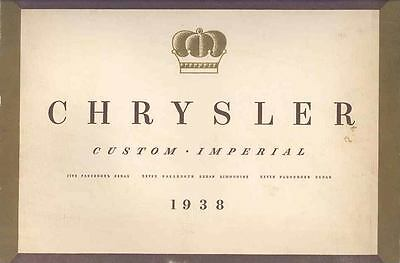 1938 Chrysler Custom Imperial Prestige Brochure wp1846-HGMMTH