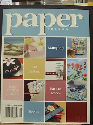 Paper Trends Magazine for cards, scrapbook pages, albums