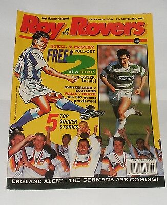 Roy Of The Rovers Comic 7Th September 1991