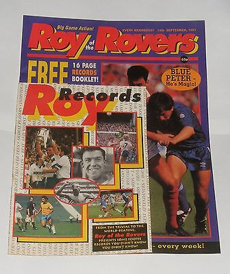 Roy Of The Rovers Comic 14Th September 1991