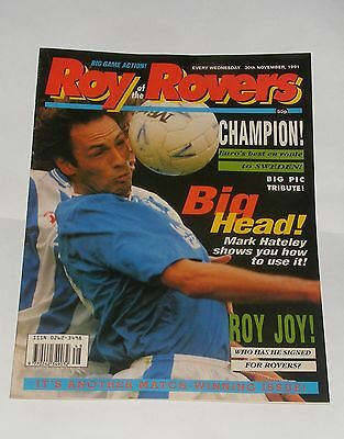 Roy Of The Rovers Comic 30Th November 1991