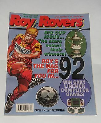 Roy Of The Rovers Comic 4Th January 1992