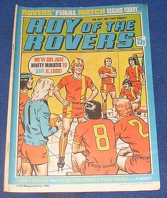 Roy Of The Rovers Comic 16Th May 1981 Sign Please Victorino