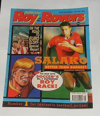 Roy Of The Rovers Comic 13Th July 1991