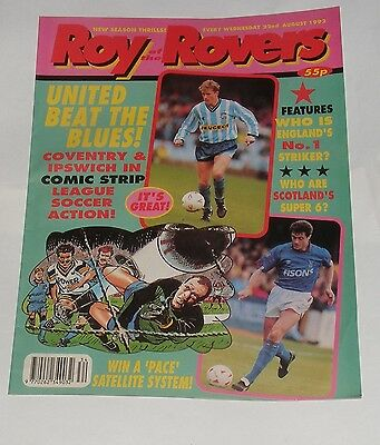 Roy Of The Rovers Comic 22Nd August 1992