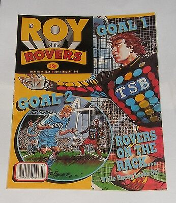 Roy Of The Rovers Comic 20Th February 1993