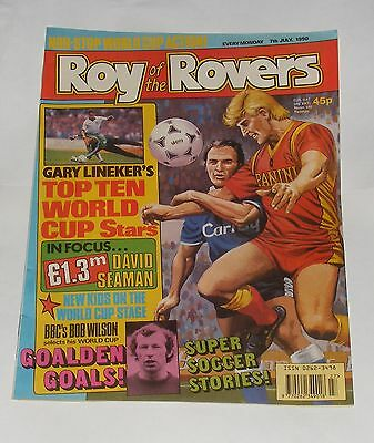 Roy Of The Rovers Comic 7Th July 1990