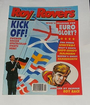 Roy Of The Rovers Comic 13Th June 1992
