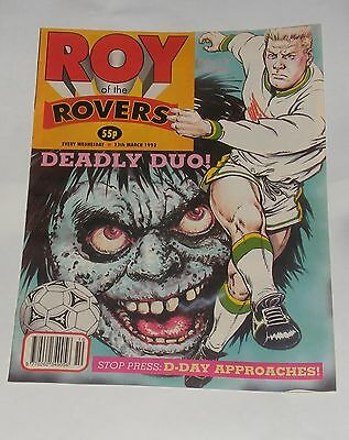 Roy Of The Rovers Comic 13Th March 1993