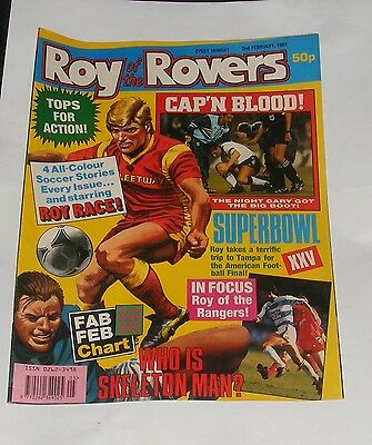 Roy Of The Rovers Comic 2Nd February 1991