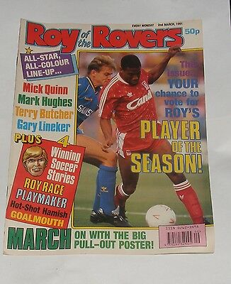 Roy Of The Rovers Comic 2Nd March 1991