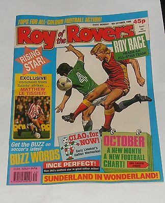Roy Of The Rovers Comic 6Th October 1990