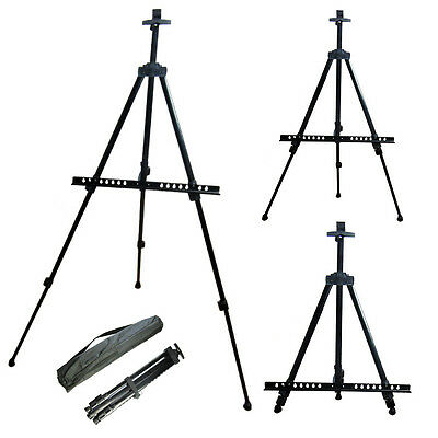 Adjustable Folding Tripod Easel Telescopic Display Art Painting With Carry Case