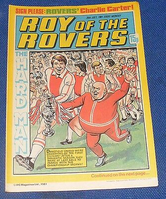 Roy Of The Rovers Comic 25Th July 1981  Sign Please Charlie Carter