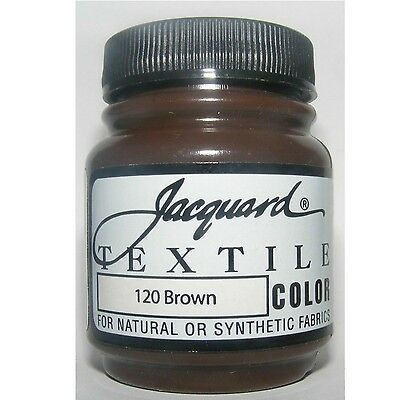 Jacquard 'Brown ' Natural Or Synthetic Fabric Paint