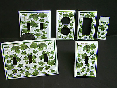 Green Ivy Leaves Image 1 Light Switch Covers Plate And Outlets