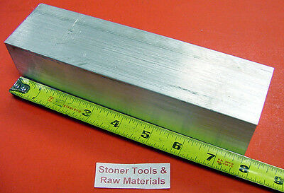 "2"" X 2"" ALUMINUM SQUARE 6061 T6511 FLAT BAR 7-3/4"" long SOLID Mill Stock 2.00"""