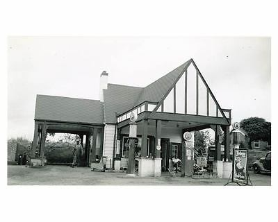 1941 Pure Oil Gas Station Photo Ware Shoals South Carolina Gas Globe ch2662