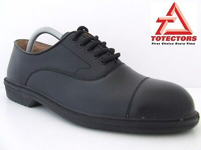 Oxford Steel Toe Cap Leather Safety Shoes EN345 Chef Catering