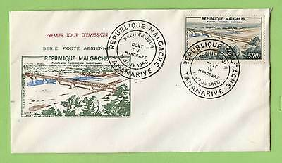 Madagascar 1960 500f Bridge stamp on First day cover