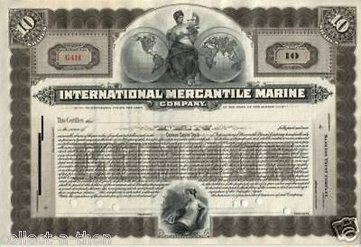 WORLD'S RAREST PRE-SINKING TITANIC STOCK (LADY/GLOBES) PRISTINE cv $10000 ONLY 1