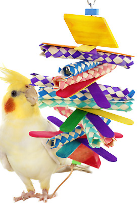 1081 4 STEP SHRED BIRD TOY parrot cage toys cages african grey conure cockatiel