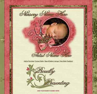 SWEET BABY LOVE Reborn Listing Auction Template unlimited pics NURSERY NAME