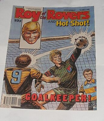 Roy Of The Rovers Comic 1St July 1989