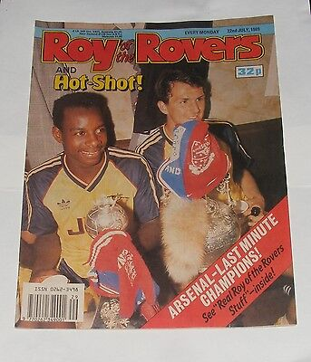 Roy Of The Rovers Comic 22Nd July 1989