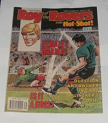 Roy Of The Rovers Comic 5Th August 1989
