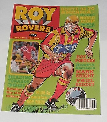 Roy Of The Rovers Comic 14Th November 1992