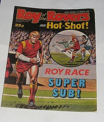 Roy Of The Rovers Comic 4Th March 1989