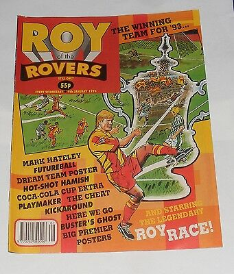 Roy Of The Rovers Comic 9Th January 1993