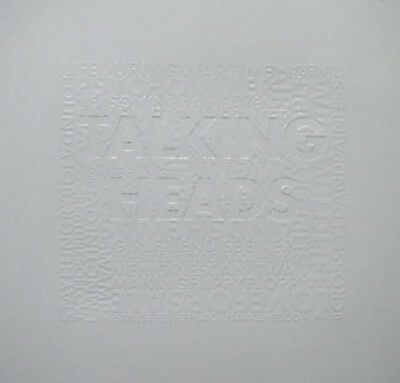 TALKING HEADS 2004 Best of embossed promo print poster ~MINT cond NEW old stock~