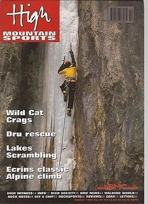 High Mountain Sports Magazine Oct 1998 Number 191 Wild Cat Crags