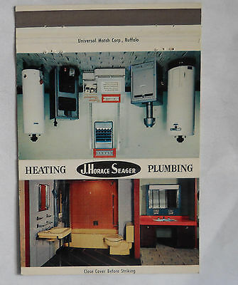 J. Horace Seager Plumbing and Heating 1913 18th St. Niagara Falls NY Matchcover