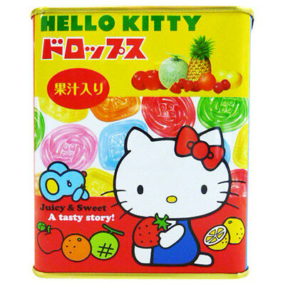 HELLO KITTY Sakuma Tin Can With Hard Sweet Candy Fruit Drops Made in Japan NEW
