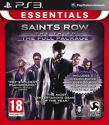 Saints Row The Third The Full Package (Essentials) (Playstation 3) NEW & Sealed