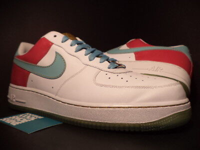 6ddda08c3e63 Nike Air Force 1  07 WHITE PARADISE AQUA GREEN CERISE PINK GOLD 315122-141