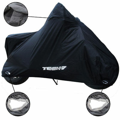 Waterproof Black Motorcycle Cover Rain Protection Breathable Vented Tech7 4 Size