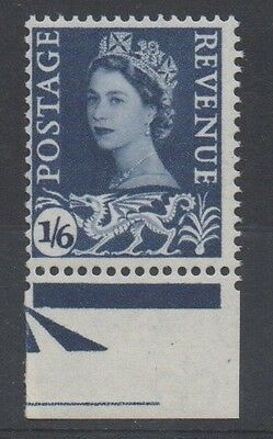 Wales. SG6ey. 1s 6d grey-blue. Phospher omitted variety. Unmounted mint.