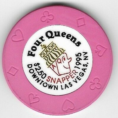 Four Queens Hotel $2.50 Snapper Casino Chip Las Vegas Nevada